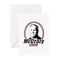 McCrazy 2008 Greeting Card