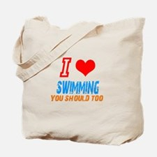 Cute Swimming fan Tote Bag
