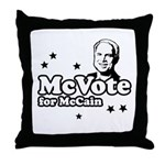 McVote for McCain Throw Pillow