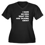 No Idea Women's Plus Size V-Neck Dark T-Shirt