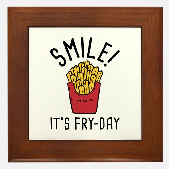 Smile! It's Fry-Day Framed Tile