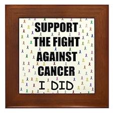 support the fight against cancer Framed Tile