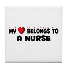 Belongs To A Nurse Tile Coaster