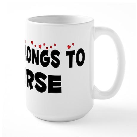Belongs To A Nurse Large Mug