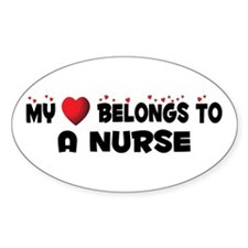 Belongs To A Nurse Oval Decal