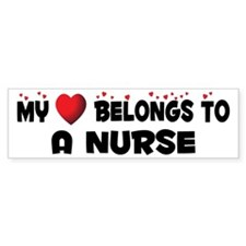 Belongs To A Nurse Bumper Bumper Sticker