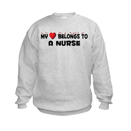 Belongs To A Nurse Kids Sweatshirt