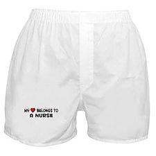 Belongs To A Nurse Boxer Shorts
