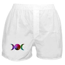 Watercolor Triple Moon Boxer Shorts