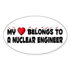 Belongs To A Nuclear Engineer Oval Decal