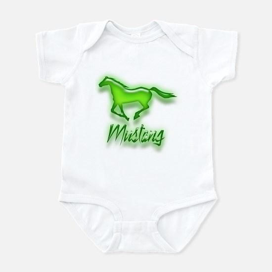 Galloping Green Mustang Infant Bodysuit