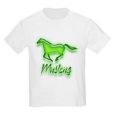 Galloping Green Mustang T-Shirt