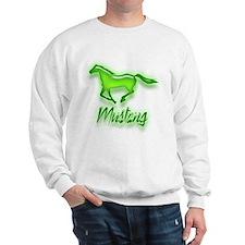 Galloping Green Mustang Sweatshirt