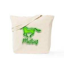 Galloping Green Mustang Tote Bag
