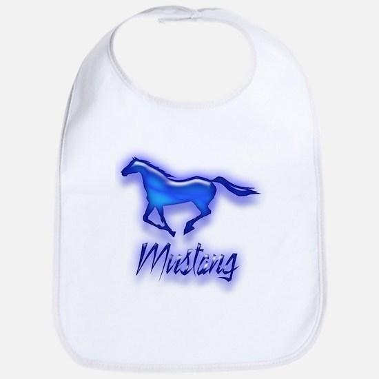 Galloping Blue Mustang Bib
