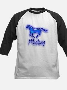 Galloping Blue Mustang Kids Baseball Jersey