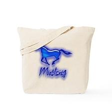 Galloping Blue Mustang Tote Bag