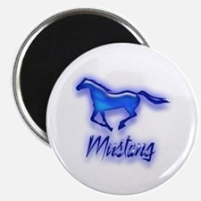 """Galloping Blue Mustang 2.25"""" Magnet (100 pack)"""