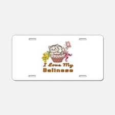 I Love My Balinese Designs Aluminum License Plate