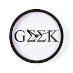 Greek Geek Wall Clock