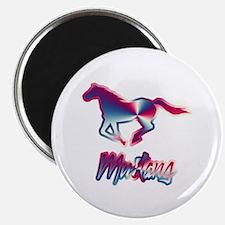 "Galloping Patriotic Mustang 2.25"" Magnet (100 pack"