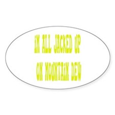 Jacked Up Oval Decal