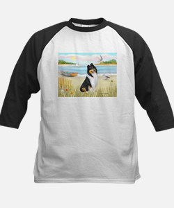 Rowboat / Collie (tri) Kids Baseball Jersey