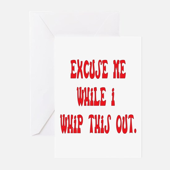 Whip this out Greeting Cards (Pk of 10)