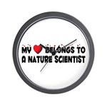 Belongs To A Nature Scientist Wall Clock
