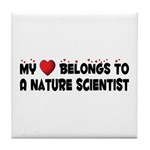 Belongs To A Nature Scientist Tile Coaster