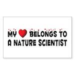 Belongs To A Nature Scientist Sticker (Rectangular