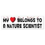 Belongs To A Nature Scientist Bumper Sticker