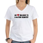 Belongs To A Nature Scientist Women's V-Neck T-Shi