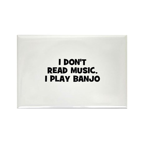 I don't read music, I play Ba Rectangle Magnet (10