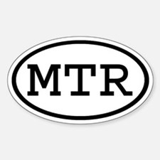 MTR Oval Oval Decal