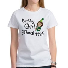 Birthday Girl March 17th Tee