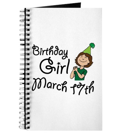 Birthday Girl March 17th Journal