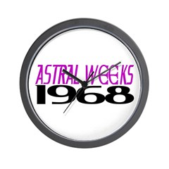 ASTRAL WEEKS 1968 Wall Clock