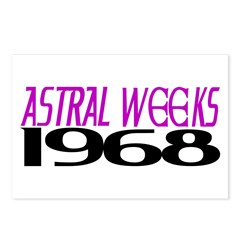 ASTRAL WEEKS 1968 Postcards (Package of 8)