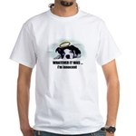 WHATEVER IT WAS -IM INNOCENT White T-Shirt