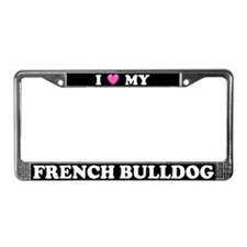 I Heart My French Bulldog License Plate Frame
