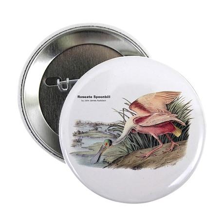 """Audubon Spoonbill Bird 2.25"""" Button (10 pack)"""