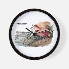 Audubon Spoonbill Bird Wall Clock