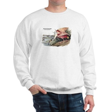 Audubon Spoonbill Bird Sweatshirt
