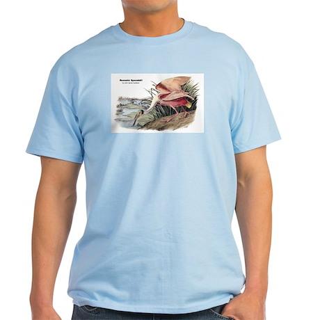 Audubon Spoonbill Bird Light T-Shirt