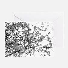 SAKURA Monotone Cherry Blossoms Greeting Cards (6)