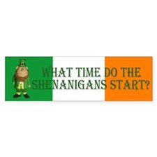 Irish Flag Leprechaun shenanigans Bumper Bumper Bumper Sticker