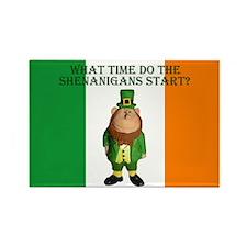 Irish Flag Leprechaun shenanigans Rectangle Magnet