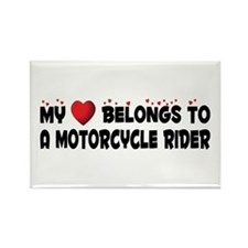Belongs To A Motorcycle Rider Rectangle Magnet