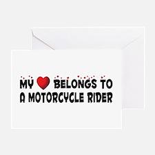 Belongs To A Motorcycle Rider Greeting Card
